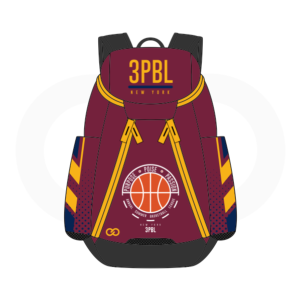 3PBL Maroon Yellow White Orange Blue and Black Basketball Backpacks Nike Elite