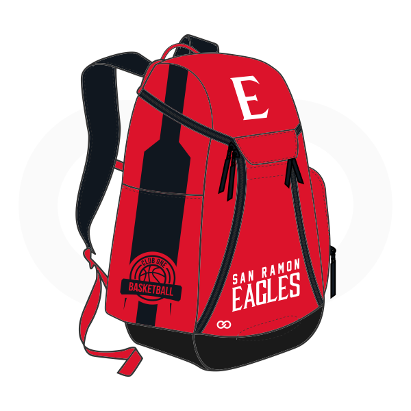 SAN RAMON EAGLES White Red and Black Basketball Backpacks Nike Elite