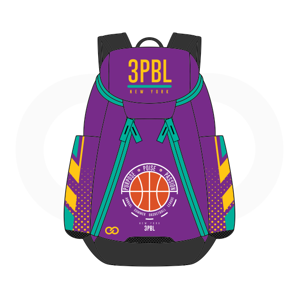 3PBL Violet Blue Green Orange White Yellow And Black Basketball Backpacks Nike Elite