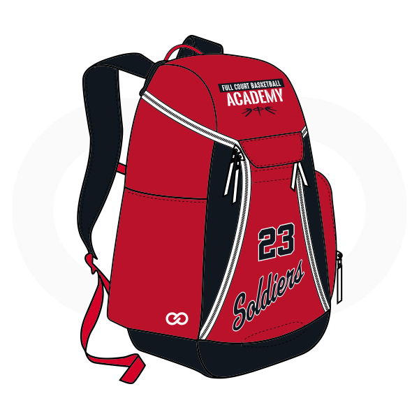 SOLDIERS Red White and Black Basketball Backpacks Nike Elite