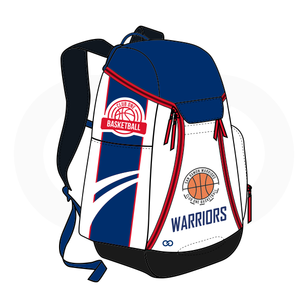 WARRIORS Blue Black Orange Red and White Basketball Backpacks Nike Elite