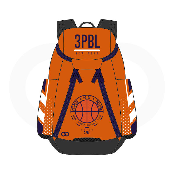3PBL Blue White Black and Orange Basketball Backpacks Nike Elite