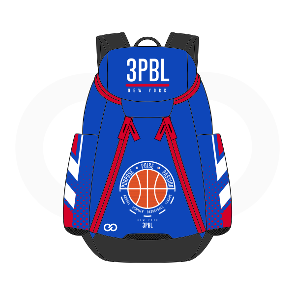 3PBL White Red Black Orange and Blue Basketball Backpacks Nike Elite