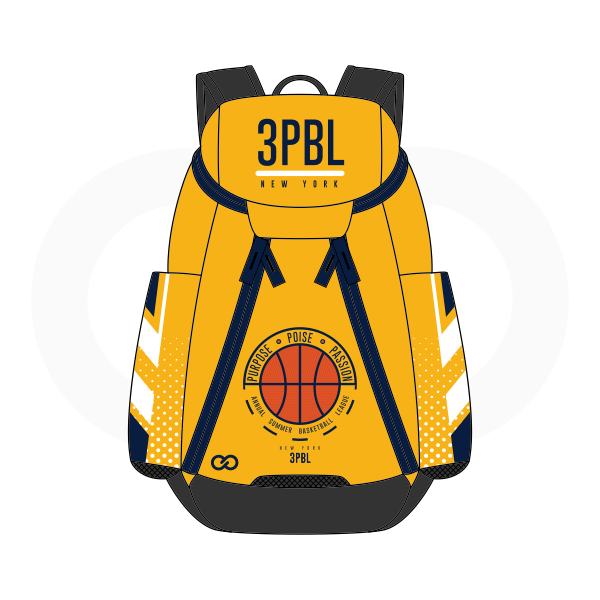 3PBL Black White Blue and Yellow Basketball Backpacks Nike Elite