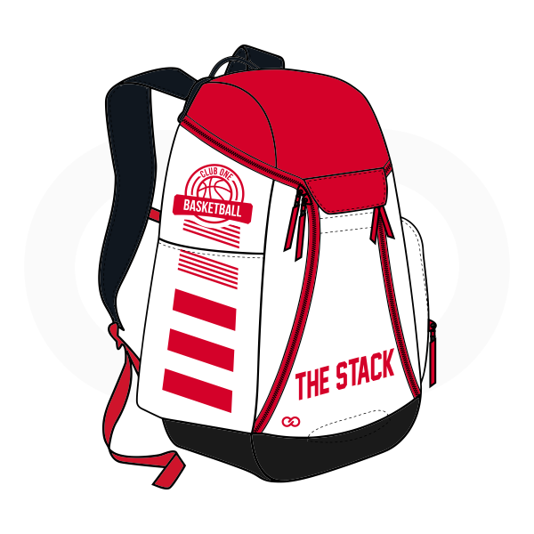 THE STACK Red Black and White Basketball Backpacks Nike Elite