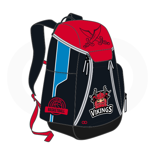 VIKINGS Red Black Blue and White Basketball Backpacks Nike Elite