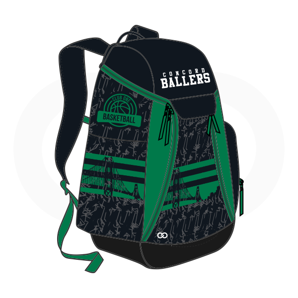 BALLERS Black White and Green Basketball Backpacks Nike Elite