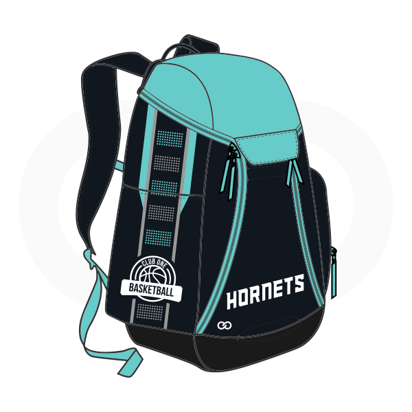 HORNETS Black Blue and White Basketball Backpacks Nike Elite