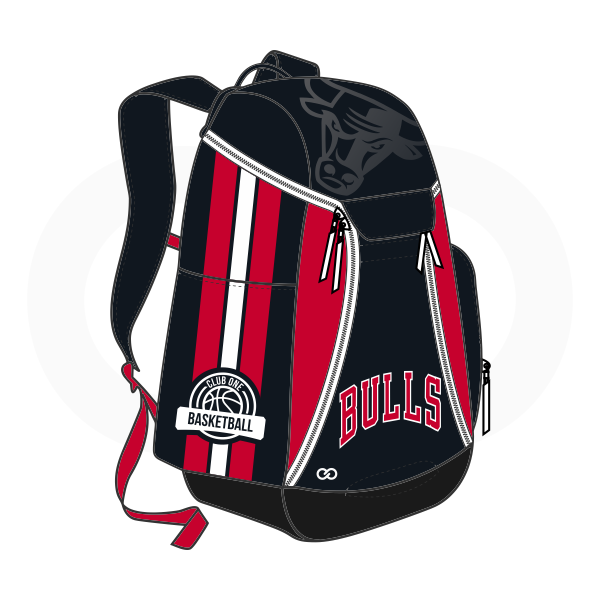 BULLS Black Red and White Basketball Backpacks Nike Elite