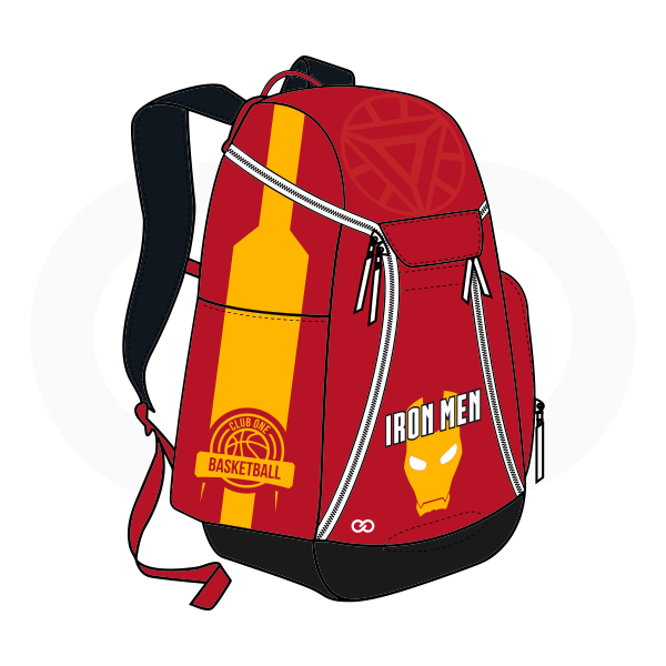 IRON MEN Black Yellow White and Red Basketball Backpacks Nike Elite