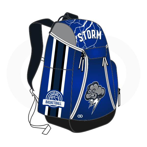 STORM Gray Black Blue and White Basketball Backpacks Nike Elite