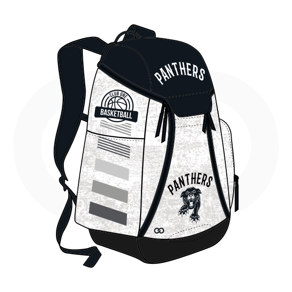 PANTHERS Black Gray White Basketball Backpacks Nike Elite