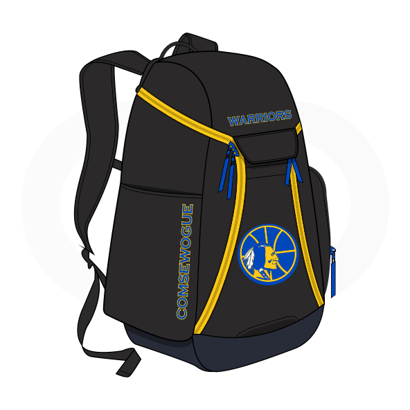 WARRIORS Black Blue and Yellow Basketball Backpacks Nike Elite