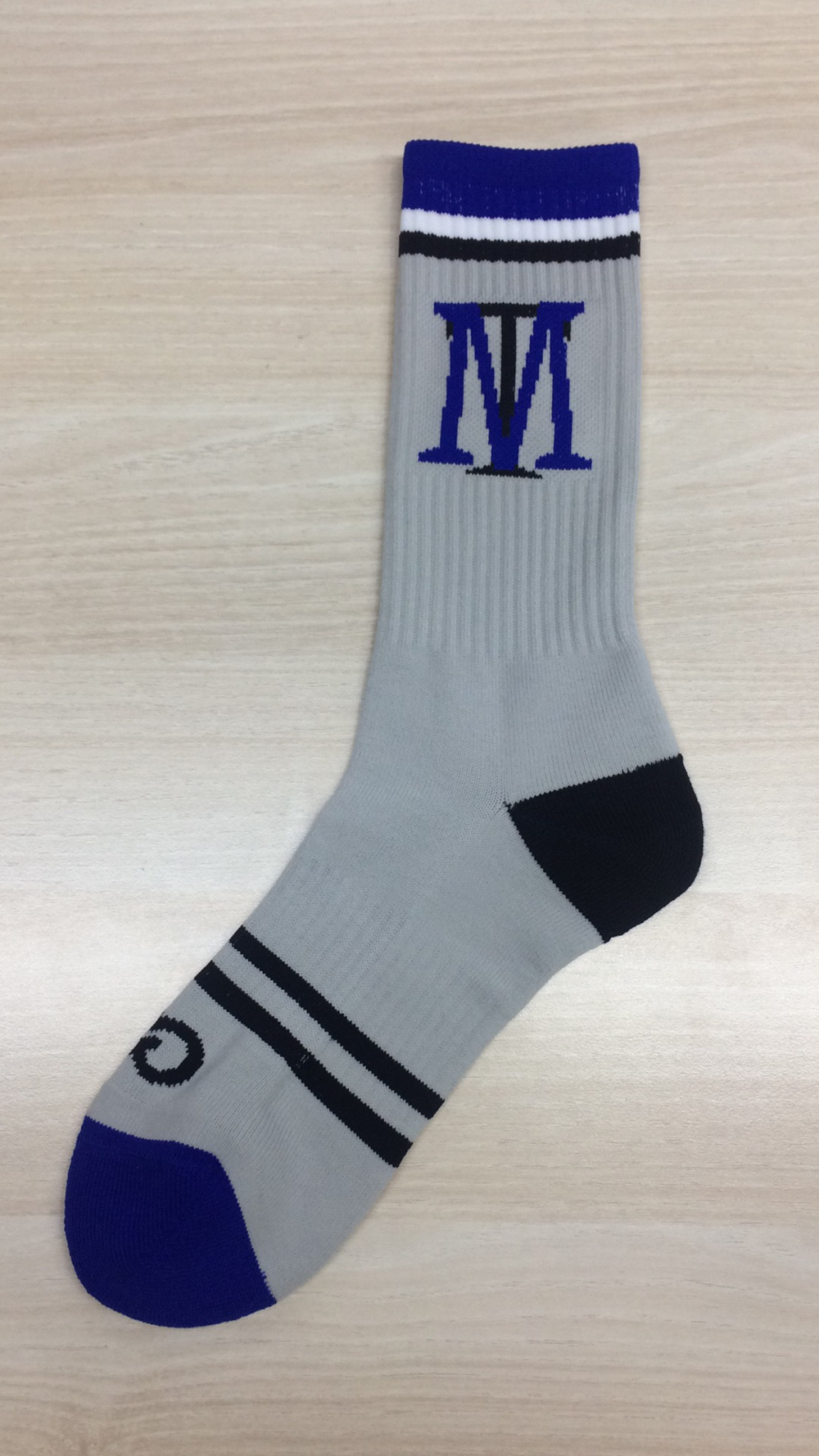 Blue White and Black Baseball Uniforms Socks