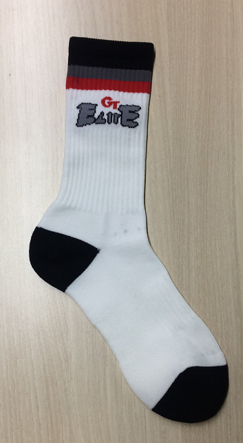 Black Red Gray and White Baseball Uniforms Socks