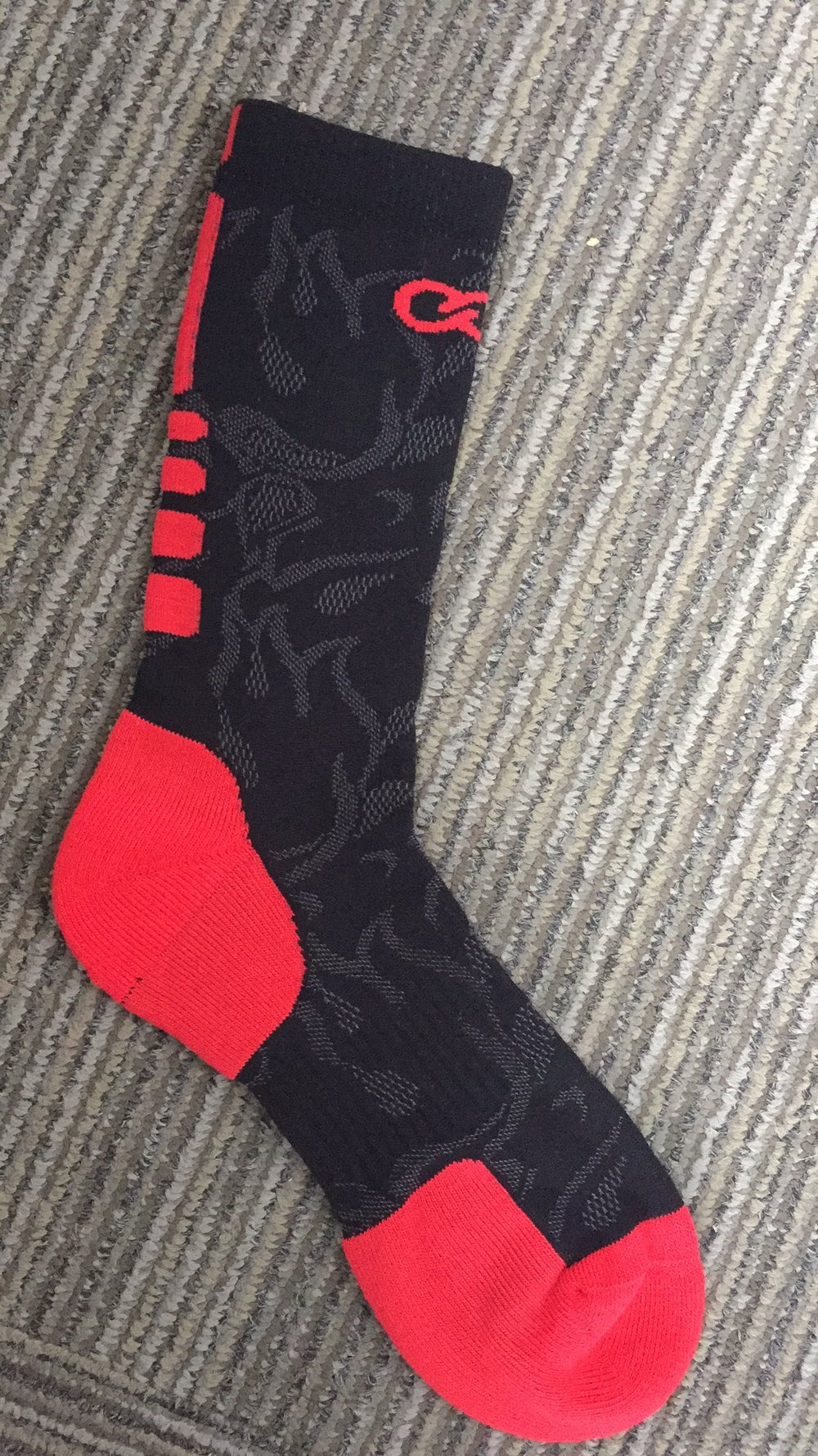Black and Red Baseball Uniforms Socks