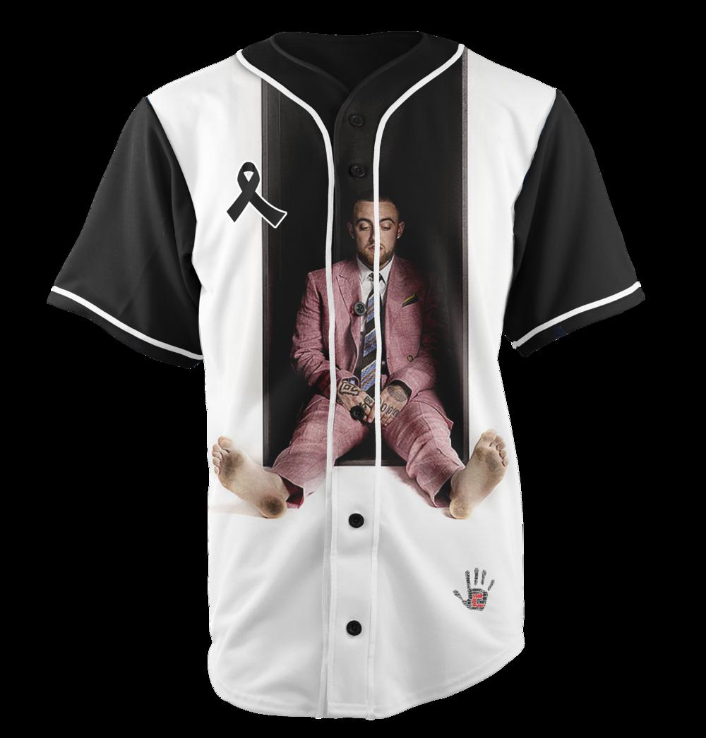 Rip Mac Miller Baseball Jersey Wooter Apparel Team Uniforms