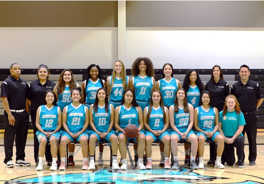 Women's COYOTES Sky blue White basketball uniforms, jerseys, and shorts