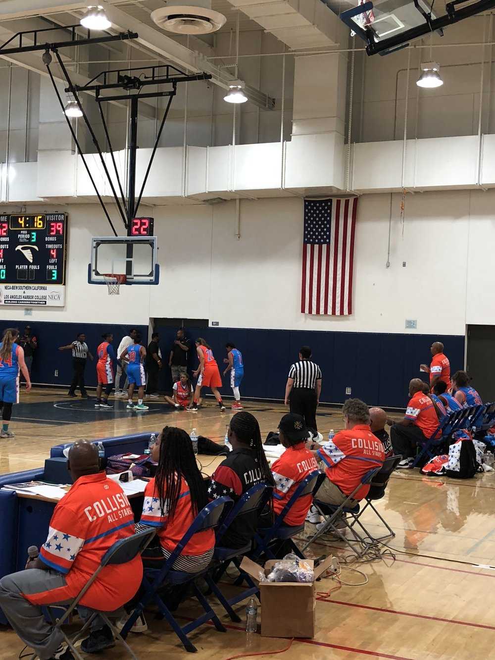 Women's COLLISION Orange Blue White basketball uniforms, jerseys, and shorts