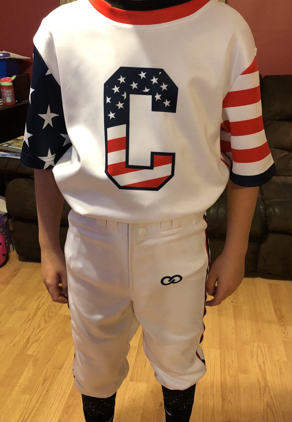 White Red Navy Blue Baseball Uniforms, Jerseys Shirts, and Pants