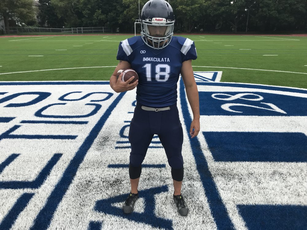 IMMACULATA Navy Blue White Football Uniforms, Jerseys and Knickers