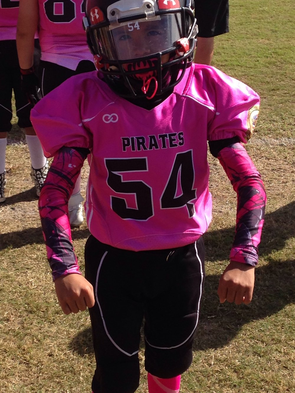 PIRATES Pink Black White Football Uniforms, Jerseys, and Pants