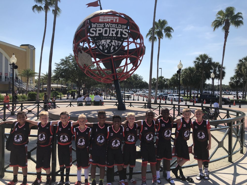 Youth ALL INDY Black White Red basketball uniforms, jerseys, and shorts