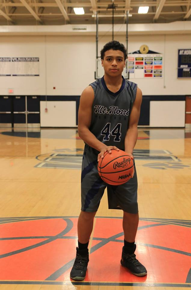 MT. MORRIS Dark Gray Navy Blue White Basketball Uniforms, Jerseys, and Shorts
