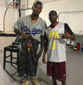 ATL RAPPERS Black Gray Red Yellow Basketball Uniforms, Jerseys, and Shorts
