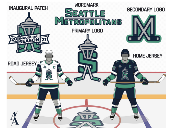 With Seattle granted an NHL expansion team set for play in the 2021-22 season, a number of outstanding jersey concepts and designs are being created and floated on social media in hopes of being considered for their own shot on the ice in the Emerald City.