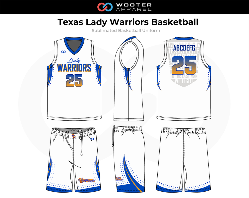 2018-11-08 Texas Lady Warriors Basketball Uniform (White).png