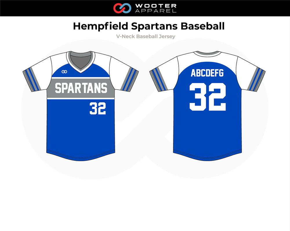 2018-10-26 Hempfield Spartans Baseball V-Neck Pullover Jersey (Patriots).png
