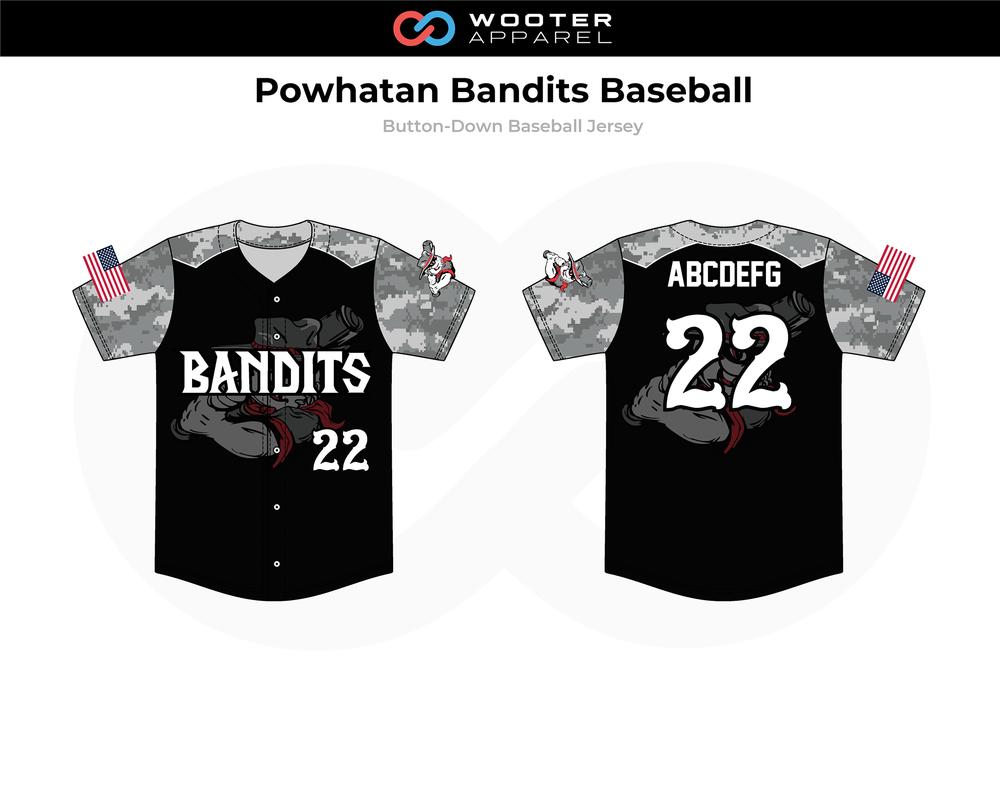 2018-12-04 Powhatan Bandits Baseball  Button-Down Jersey (Black).png