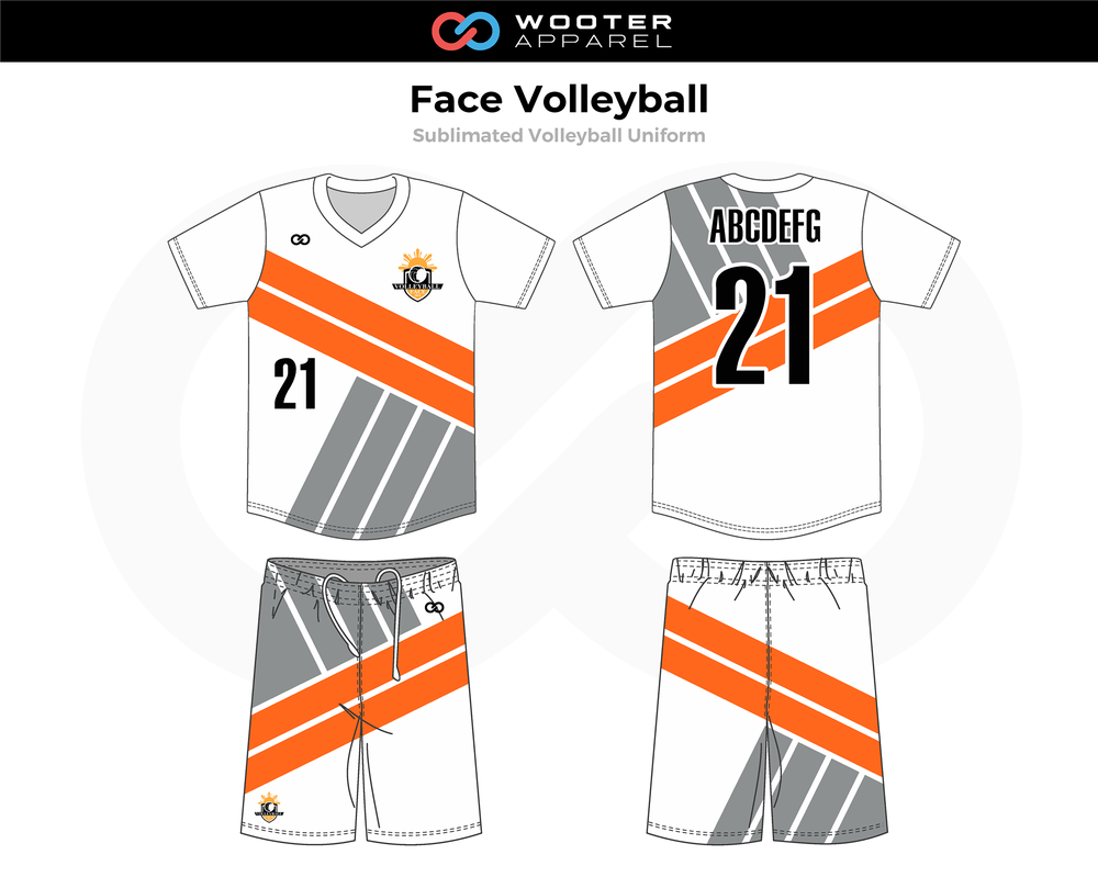 2019-02-15 Face Volleyball Uniform (A) (White).png