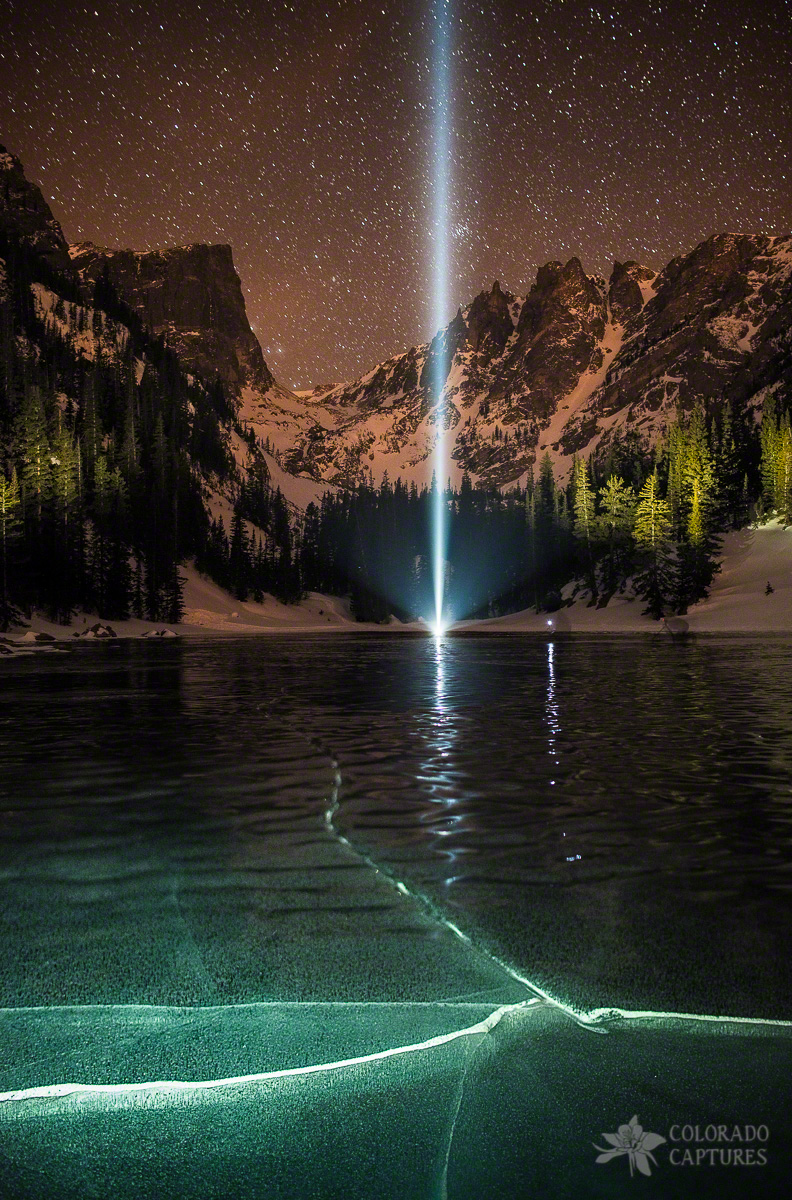 Frozen Illumination At Dream Lake