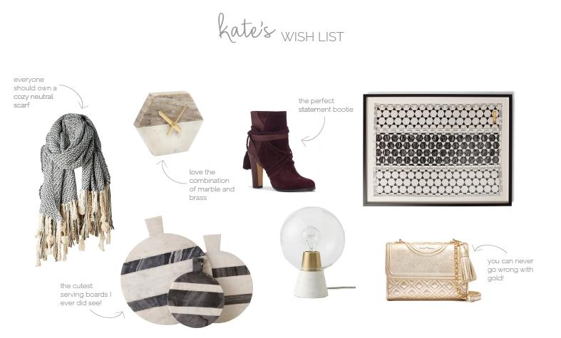 kate's wish list