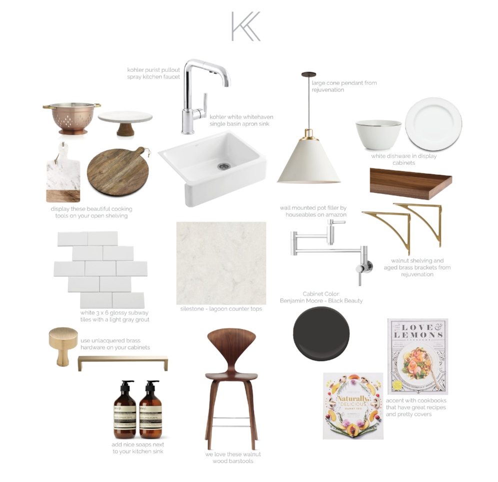 how to get a contrast kitchen look
