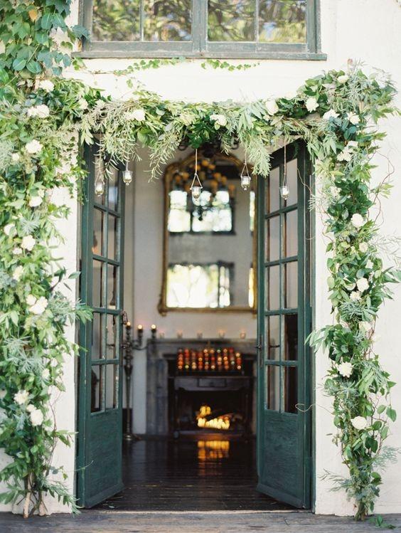 exterior door garland