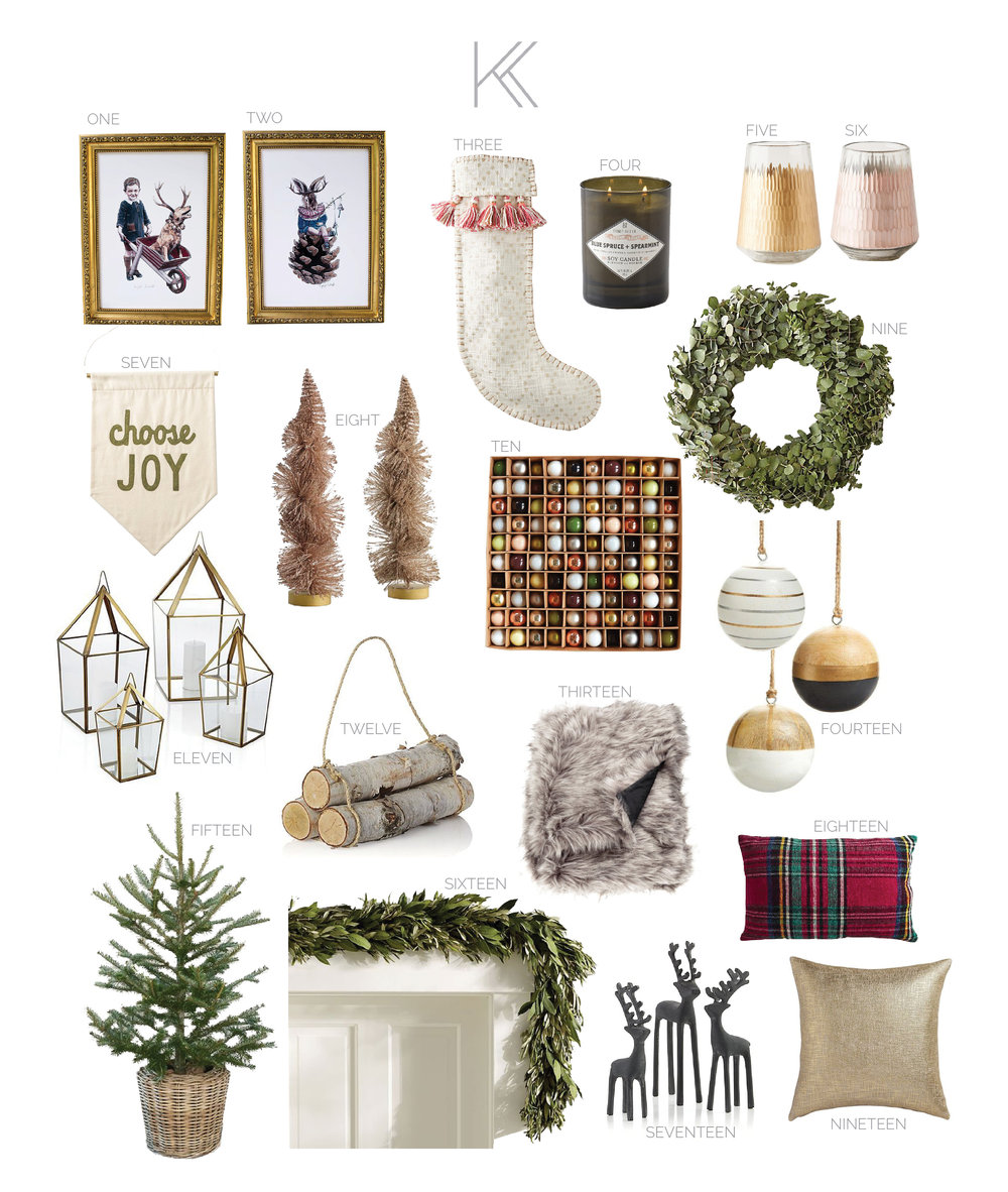 kris and kate studio - favorite christmas decor