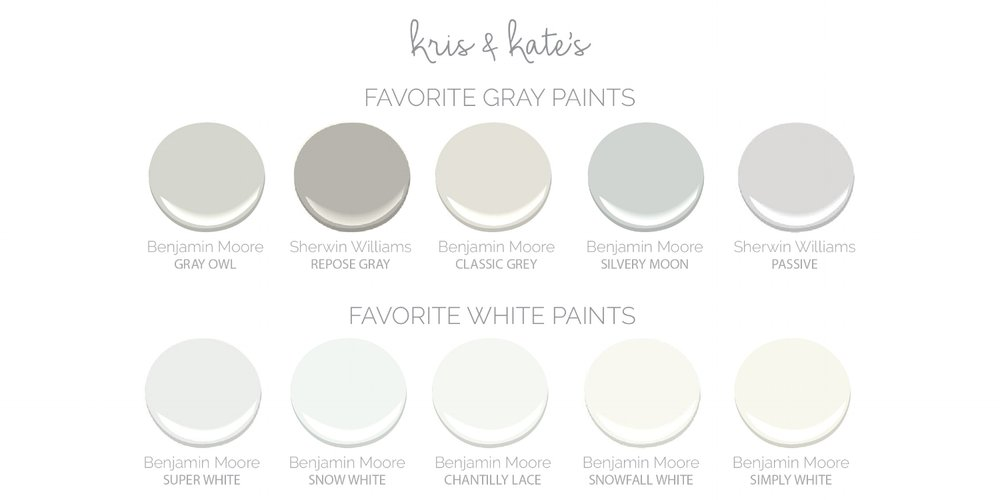 Kris and Kate's Favorite Gray Paints