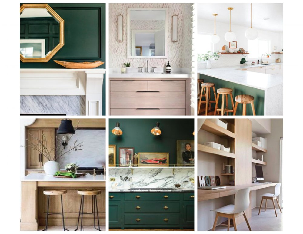 Wood and Green Interiors