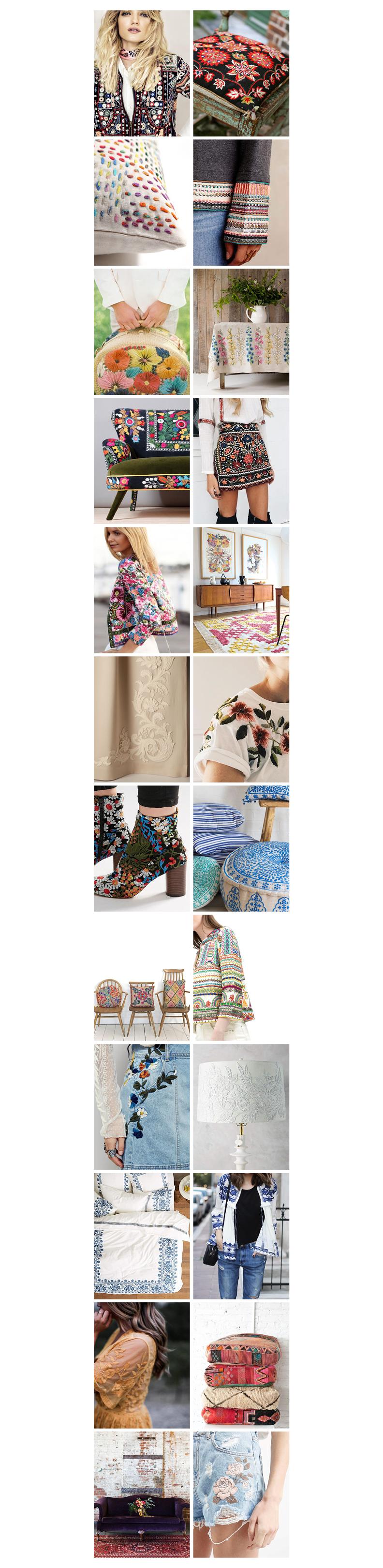 Fashion vs. Interiors - Embroidery