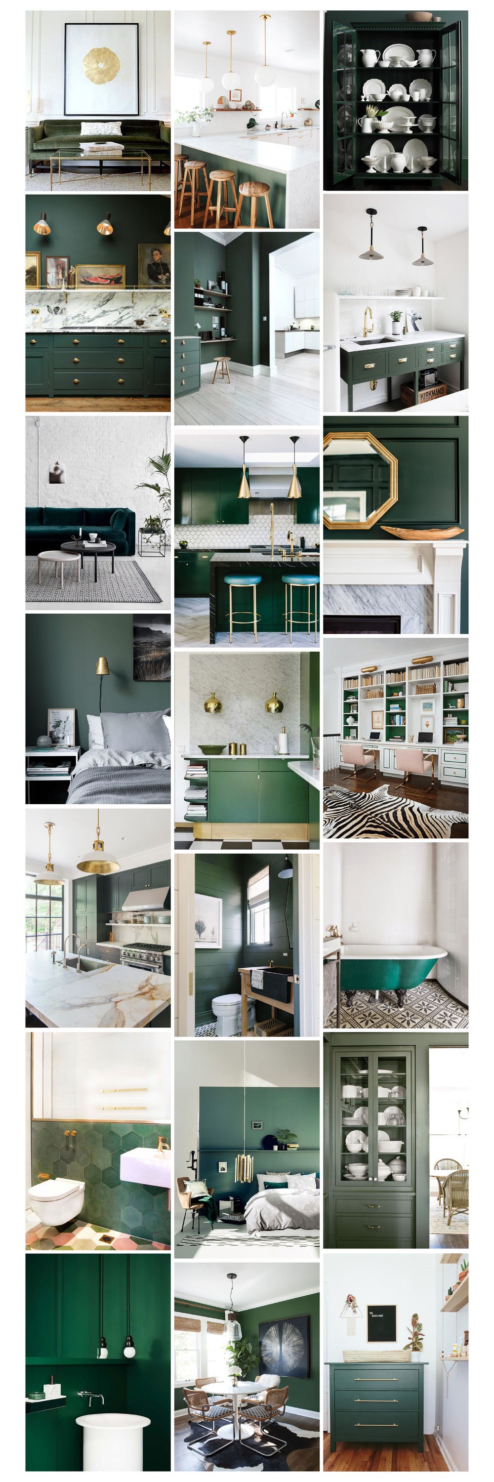 kris and kate studio_green interior inspiration images