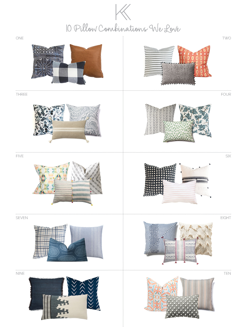 Pillow Combinations We Love