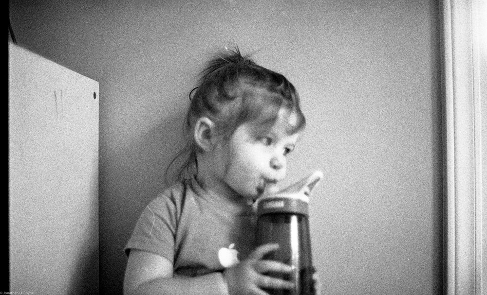 Deep in Thought.  Raleigh, NC - Nikon FM2 shot with Kodak T-Max 400