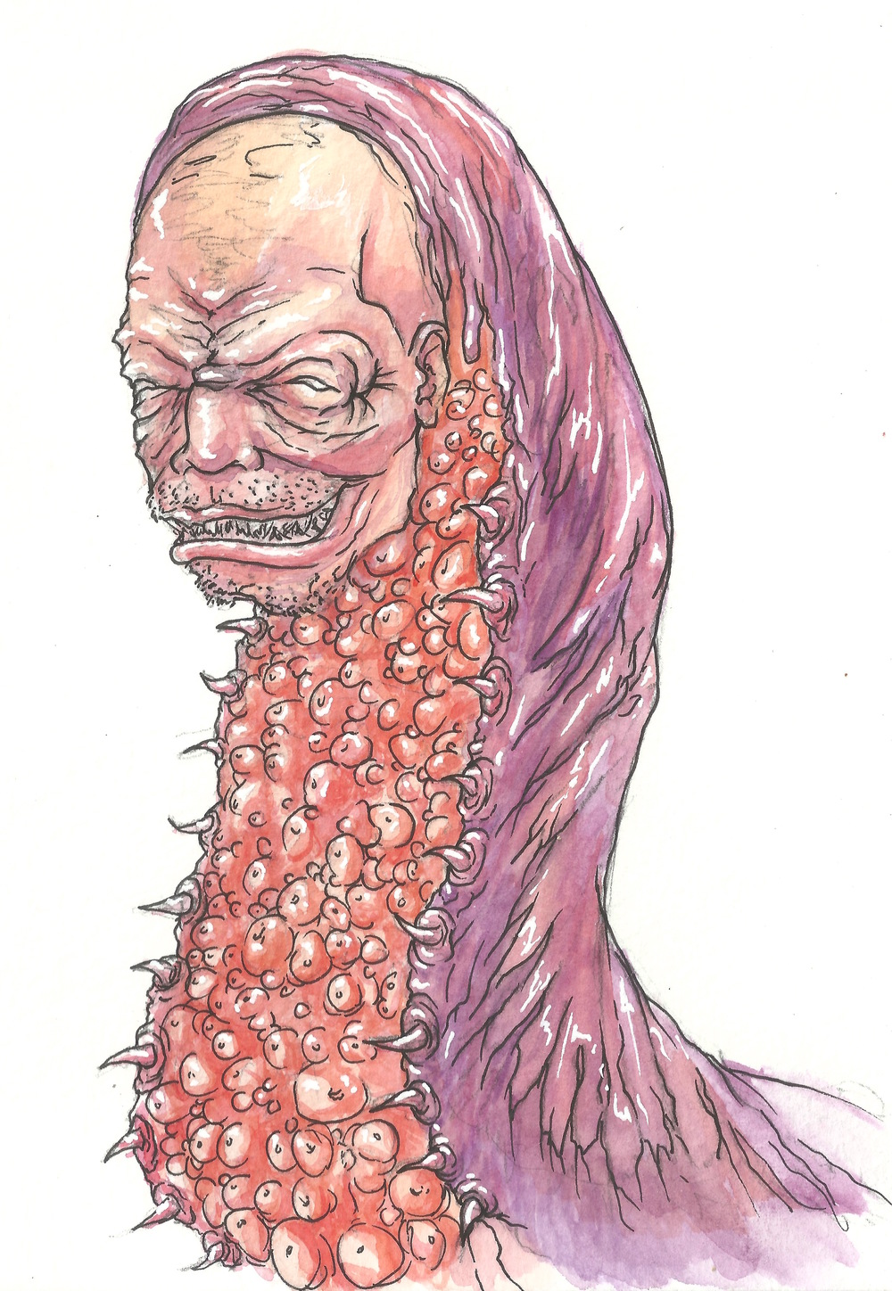 watercolor and ink