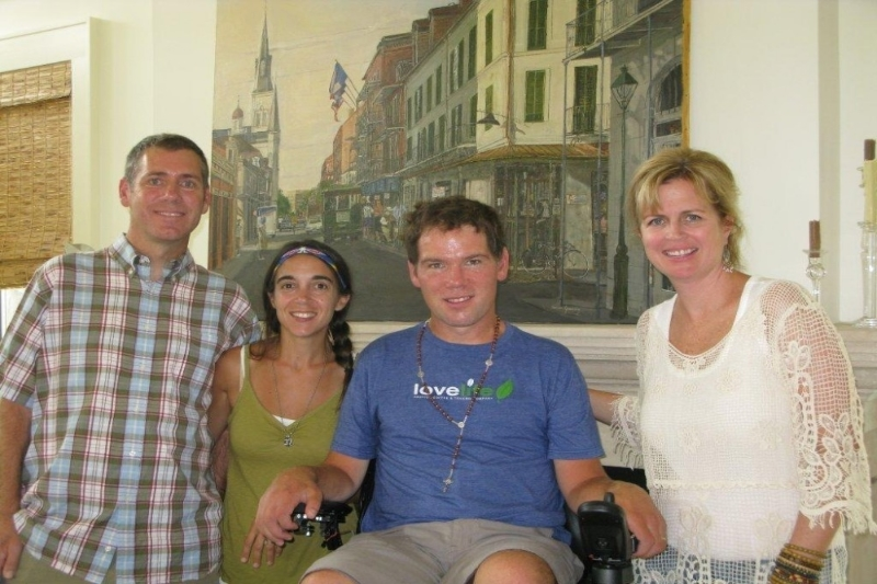 Jim, Michel & Steve Gleason and Melanie  Roach-Bekos