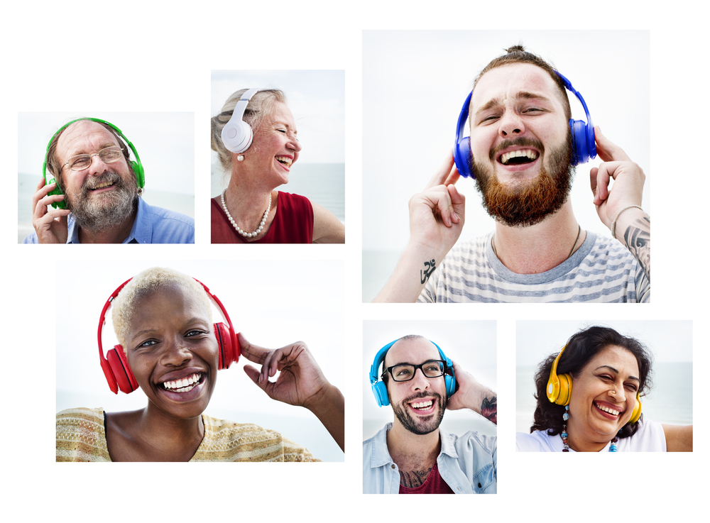Many different people enjoy listening to music on headphones