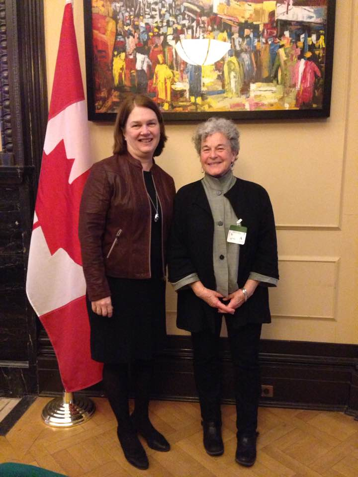 MSTH founding member Leslie McBain meeting with Jane Philpott, Federal Minister of Health