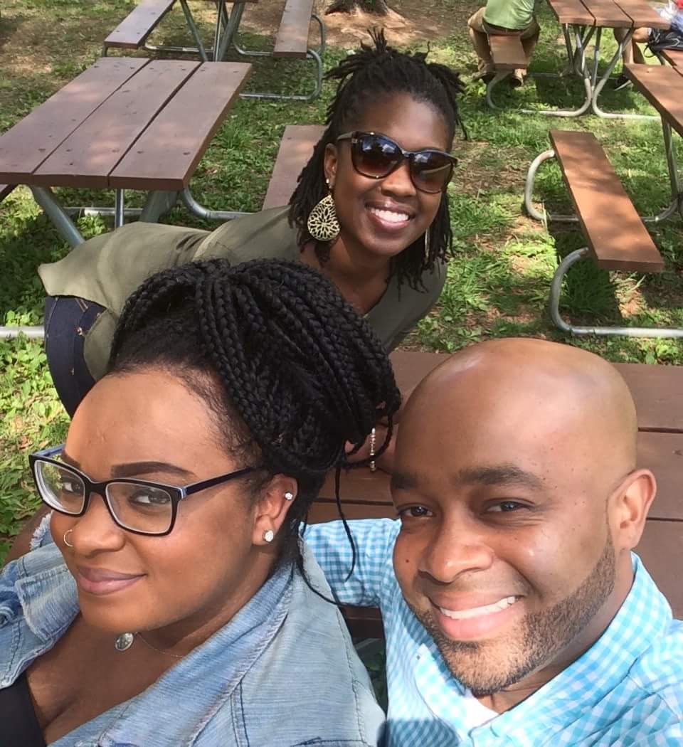 (From left) Me, my daughter Shaynah and wife Whitney.